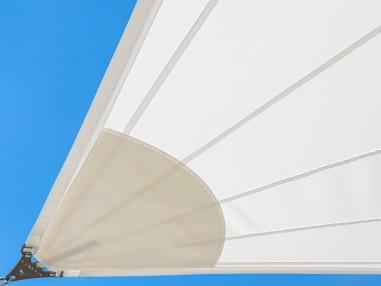 SolariA Wodoodporny - Nasz najlepszy żagiel przeciwsłoneczny, krój radialny