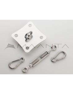 Zestaw montażowy ścienny SimplE - INOX / OCYKOWANY