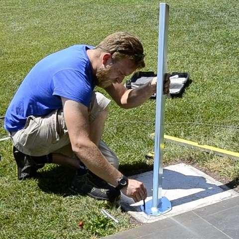 mocowanie naścienne do żagli przeciwsłonecznych